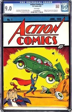 First Superman comic sells for a record $3.2m