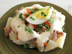 Potato Salad with Tuna - QueRicaVida.com