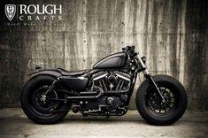harley-davidson-sportster-iron-883-iron-guerilla-custom-by-rough-crafts-01 #harleydavidsonroadkingspecial