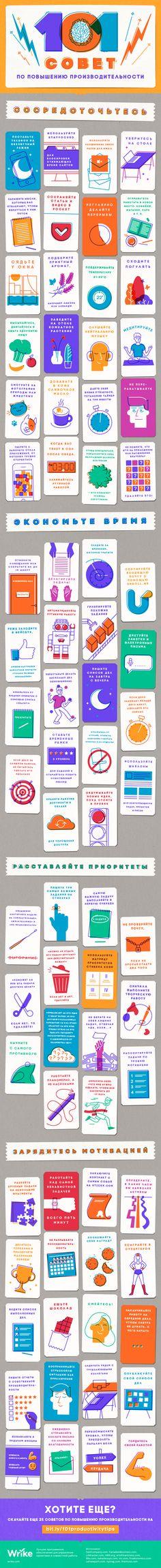 101 совет по повышению производительности (инфографика)