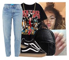 """""""#band tee"""" by eazybreezy305 ❤ liked on Polyvore featuring Alexander Wang, M.i.h Jeans, Bianca Pratt, vans, simpleoutfit, Trendy and 2017"""