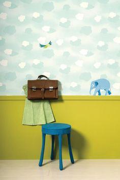 Detské tapety na stenu Kidzzz   Ambiente Bratislava Mural Digital, Pattern Wallpaper, House Colors, Small Spaces, Children, Interior, Furniture, Bratislava, Design