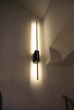 IKEA Hackers: Ledberg wall lamp for stairway    http://www.ikeahackers.net/2013/02/ledberg-wall-lamp-for-stairway.html