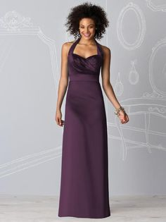 After Six bridesmaid dress 6599 in aubergine