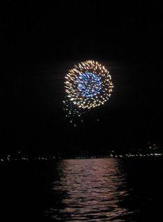 Fireworks on Lake Champlain