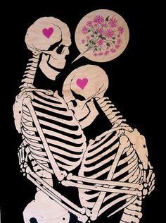 let it be, Dan Mccarthy  skeletons in love pop art