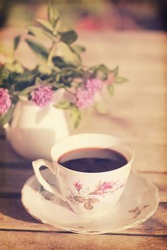 ♡ coffee tea flowers ♡ .. X ღɱɧღ ||