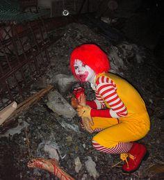 Zombie Ronald McDonald- super creepy