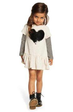 Pippa & Julie 'Sequin Heart' Sweater Dress (Toddler Girls, Little Girls & Big Girls)