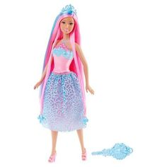 Barbie Endless Hair Kingdom Princess Doll -  Blue