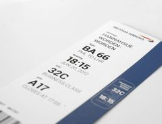 Boarding pass by Elena Sokolova, via Behance Business Class, Boarding Pass, Behance, Simple, Design, Rice, Behavior