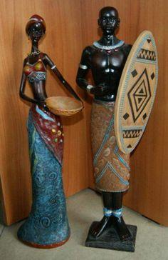 kobiety afrykańskie rzeźby - Buscar con Google African Figurines, Black Figurines, Biscuit, African Paintings, African Dolls, Africa Art, African American Art, Black Women Art, Gourd Art