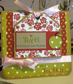 Teacher Appreciation Cards | Teacher Appreciation Card with Magnet | Flickr - Photo Sharing!
