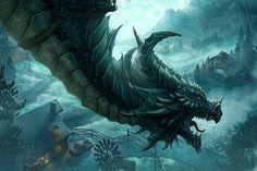flying-blue-dragon