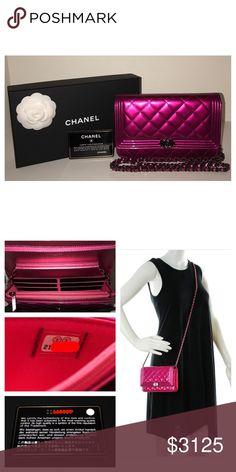 36c3170627ab Chanel Metallic Fuchsia Boy WOC *SOLD OUT* Authentic Chanel Fuchsia  Metallic Boy Wallet On