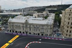 Overhead shot of the 2016 Formula One European Grand Prix at the Baku City #F1 Circuit in Azerbaijan