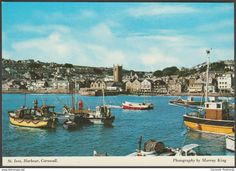 St Ives Harbour, Cornwall, c.1980s - Murray King Postcard