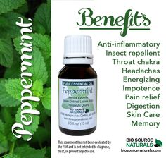 Peppermint Essential Oil is helpful for soothing symptoms of frozen shoulder! #aromatherapy