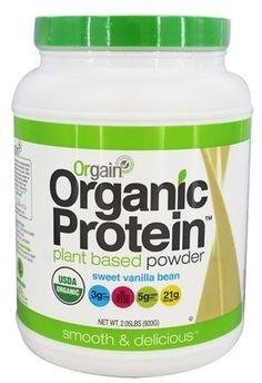 Compre Orgain - La planta de proteína orgánica basó la haba de vainilla dulce del polvo - 2.05 libras. en LuckyVitamin.com
