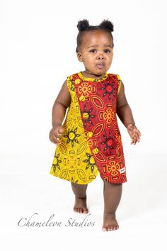Handmade in South Africa. Baby African Clothes, African Dresses For Kids, African Children, African Print Dresses, Dresses Kids Girl, Kids Outfits, African Babies, Baby Girl Fashion, Kids Fashion