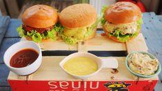 Healthy Recepies, Gazpacho, Okra, Ciabatta, Ketchup, Salmon Burgers, Hamburger, Bacon, Grilling