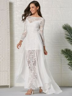 Lace Dresses Long Sleeves Backless Chiffon Sexy Dresses - Power Day Sale #Fall2020collection #Falloutfits #Fallcollection #FallWear #Autumnwear #fashionintrend #womenfashion #Expressyourself Elegant Dresses, Sexy Dresses, Evening Dresses, Lace Dresses, Casual Dresses, Prom Dresses, Party Dresses For Women, Summer Dresses, Wedding Dresses