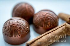 Aztec - Gem Chocolates - photograph by Sabine Edrissi. Fine art prints and posters for sale.  #sabineedrissi #chocolate #foodiephotography