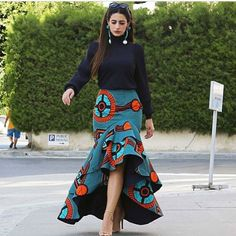 seamapplique by Reowned ( African Fashion Skirts, African Print Dresses, African Print Fashion, Africa Fashion, African Dress, Modern African Fashion, African Attire, African Wear, Style Africain