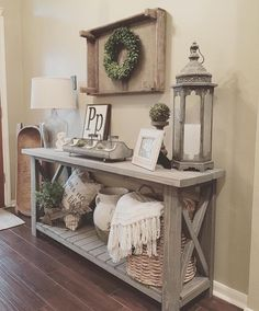 "It's a DIY Console Table---841 Likes, 10 Comments - ANTIQUE FARMHOUSE (@antiquefarmhouse) on Instagram: ""# @homedecormomma The console table is beautiful. Your husband is talented, as are you! This looks…"""