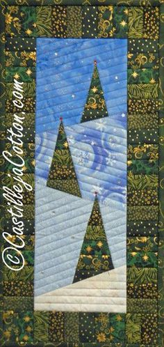 Winter View quilt pattern by Diane McGregor. Published in the Dec./Jan. 2015 issue of McCall's Quick Quilts