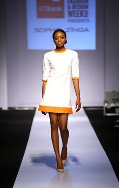 Sophie Zinga, Lagos Fashion & Design Week 2014. |L'Entre-Deux by FASHIZBLACK.com