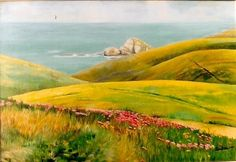 Cabo Peñas, Asturias. Óleo sobre lienzo por Coral Braña.