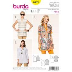 Burda - 6809 Tuniek / blouse