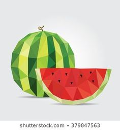 Find Watermelon Polygonal Watermelon Vector stock images in HD and millions of other royalty-free stock photos, illustrations and vectors in the Shutterstock collection. Thousands of new, high-quality pictures added every day. Geometric Painting, Geometric Art, Pop Art Drawing, Art Drawings, Cool Wallpapers For Computer, Fruit Icons, Banana Art, Triangle Art, Polygon Art