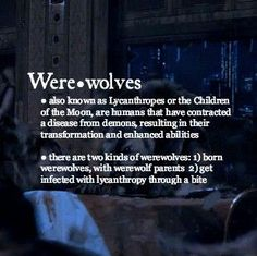 Werewolves 101