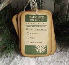Naughty or Nice Gift Tags