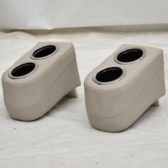 Made out of gray vinyl over foam padding with plastic insert tab. - Great for pontoon boats. - cup holders per armrest. - 6 W x 8 H x D overall per armrest. These armrests have scuffs and scratches on the cup holders, stains on vinyl. Boat Cup Holders, Boat Covers, Pontoon Boat, Boat Parts, Boating, Pairs, Gray, Boats, Grey