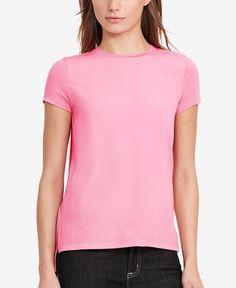 Lauren Ralph Lauren Crepe-Front Jersey T-Shirt
