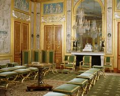 Audience room for Emperess Marie-Louisein the castle of Fontainebleau