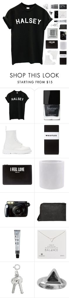 """""""≫ TELL ME WOULD YOU BE MINE"""" by w-anderess ❤ liked on Polyvore featuring Butter London, Dr. Martens, Whistles, Givenchy, Vondom, Fujifilm, Dogeared, Zoemou, Harper & Blake and leireyougottagged"""