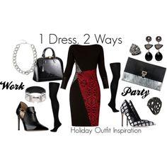 """1 Dress, 2 Ways"" by mallorysills on Polyvore"