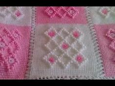 How to Crochet a Baby Blanket Fast & Easy Baby Shower Set Crochet Stitches Patterns, Crochet Patterns For Beginners, Crochet Chart, Stitch Patterns, Baby Girl Crochet Blanket, Crochet Baby, Bobble Stitch, Tunisian Crochet, Crochet Videos
