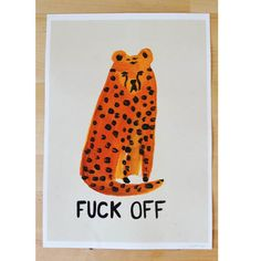 Cheetah Fuck Off Print