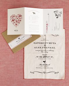 perforated rsvp and cloth invite