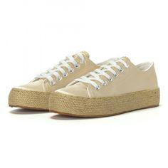 Teniși tip espadrile de dama bej it230418-1 | Fashionmix.ro
