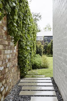 Brighton House by Rob Kennon Architects - Project Feature - Melbourne, Australia - The Local Project Brighton Houses, New Brighton, Landscape Design, Garden Design, Landscape Materials, House Design, Melbourne Suburbs, Side Garden, Garden Bed