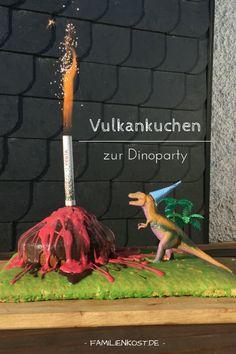 Vulkankuchen zur Dinoparty