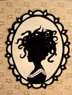 victorian silhouette \/ medusa. $30.00, via Etsy.