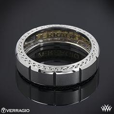 Verragio Beveled Chamber Wedding Ring - Handsome!