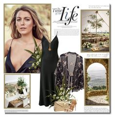 """It is not length of life, but depth of life!!"" by lilly-2711 ❤ liked on Polyvore featuring Frame, Twin-Set, Chanel, Aquazzura, blakelively, slipdress and kimonos"